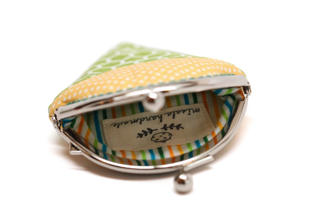 Key lime mint ice cream mini coin purse