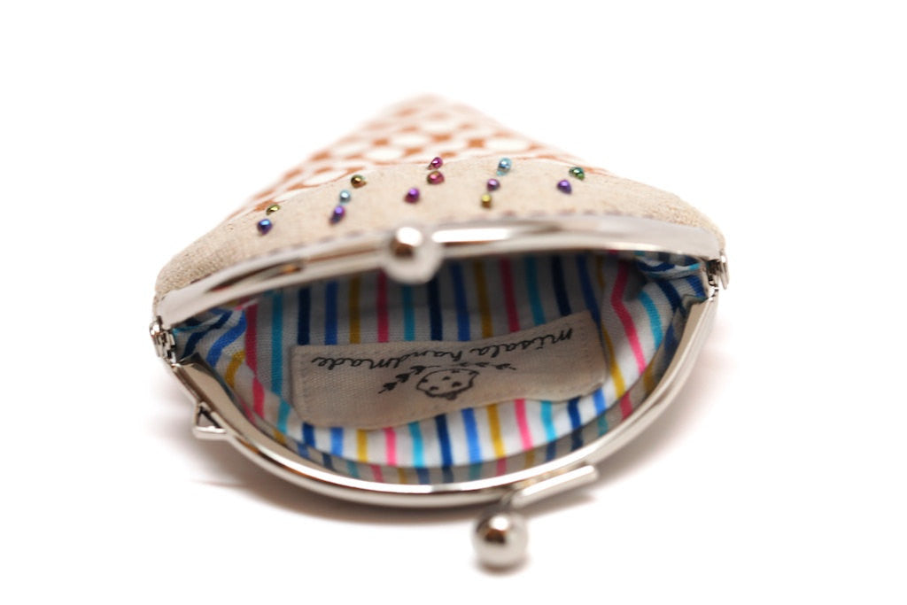 Chocolate toffee ice cream mini coin purse