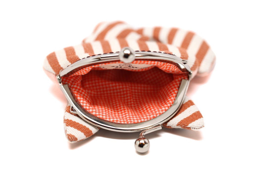 Little stripey red fox clutch purse