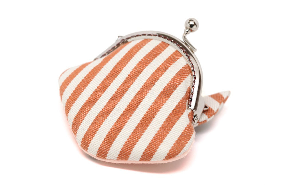 Little stripey red fox mini wallet