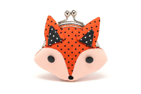 Little cunning red fox mini wallet