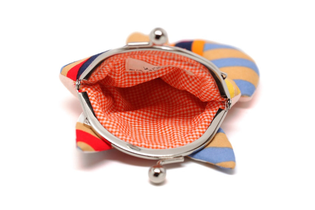 Radiating colors little fox clutch purse