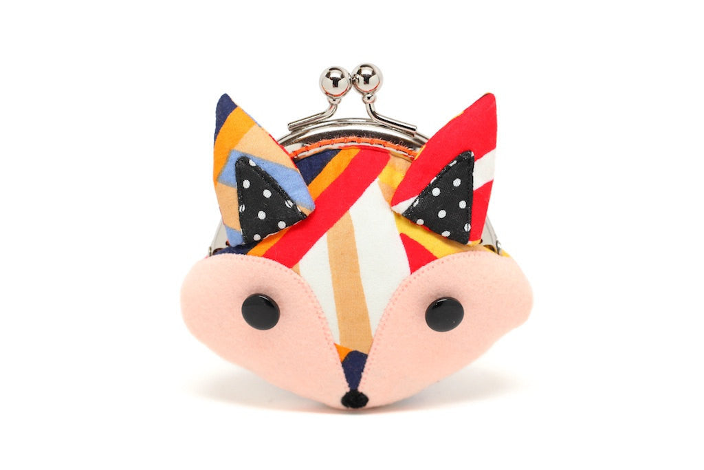 Radiating colors little fox mini wallet