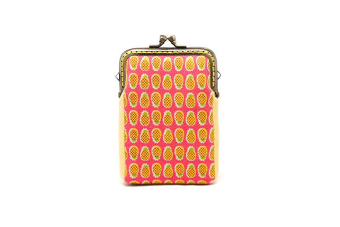 Fruity holidays mini pineapples card holder wallet