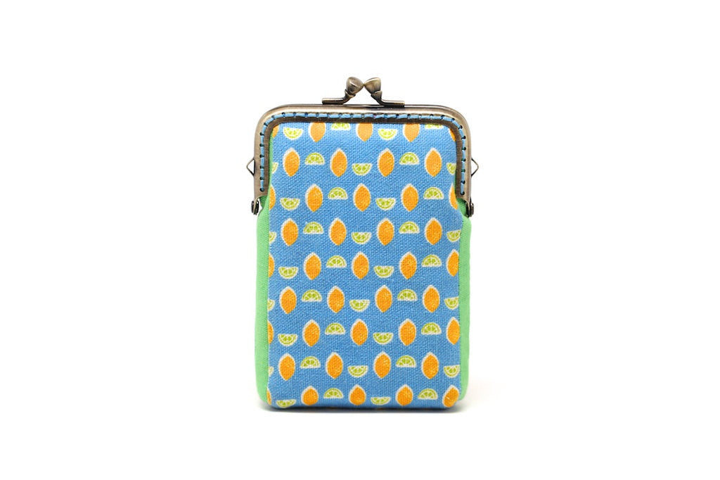 Fruity holidays mini lemons card holder wallet