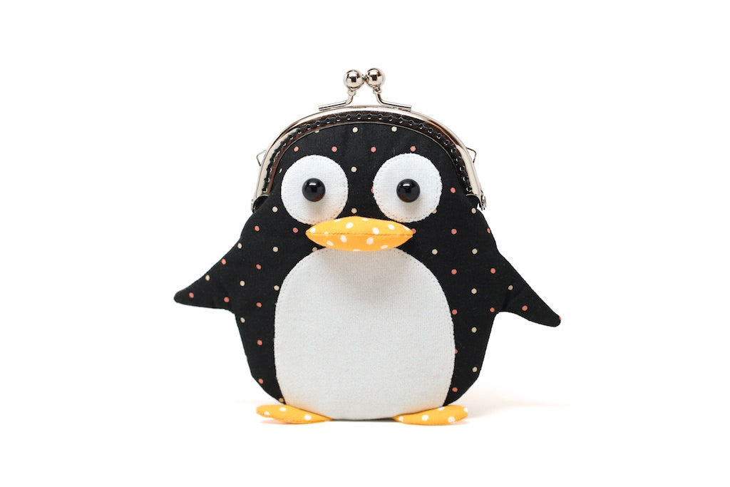 Cute little penguin card holder wallet