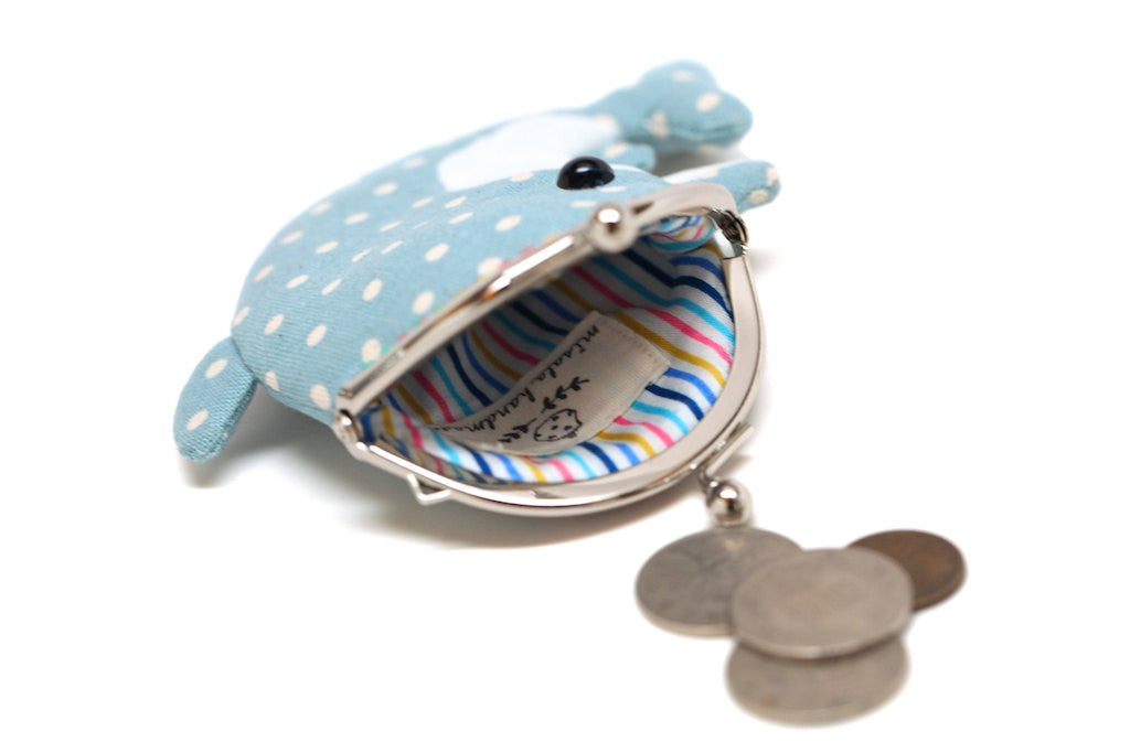 Cute baby blue dolphin clutch purse