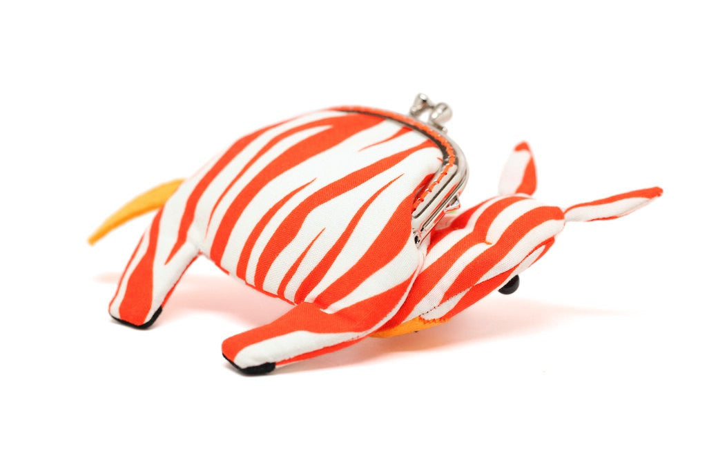 Agile red zebra clutch purse