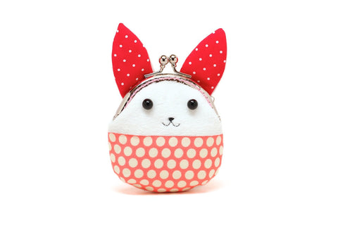 Little red rabbit mini coin purse