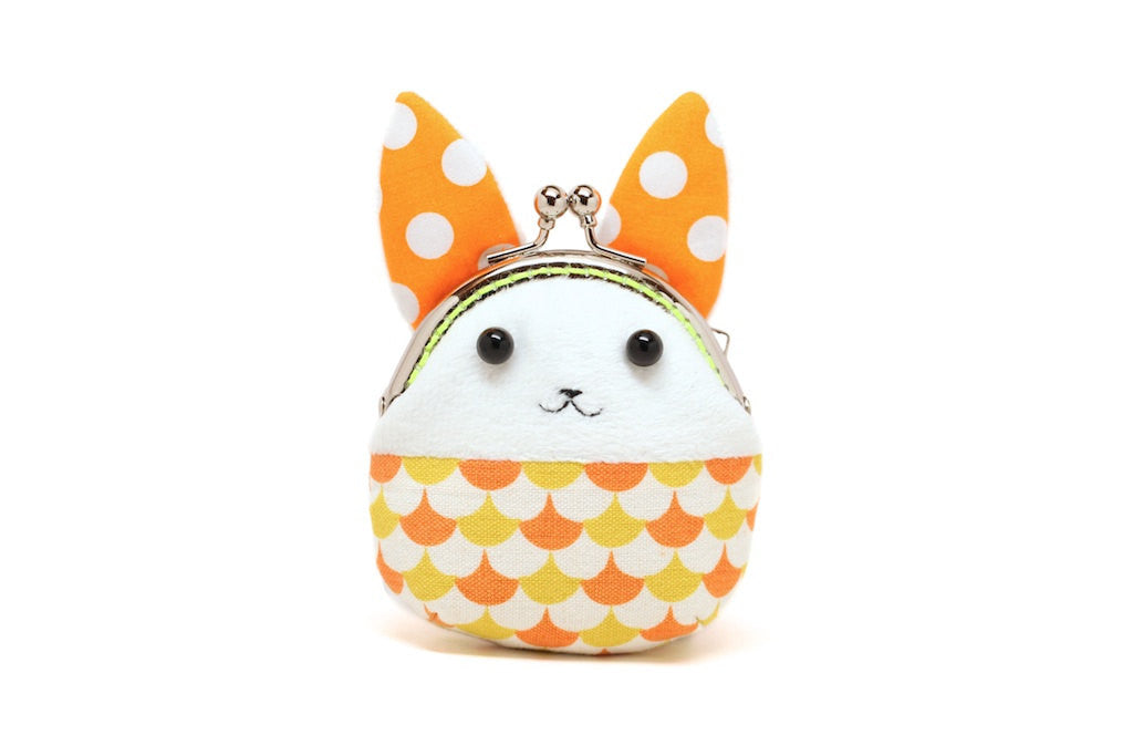 Little orange showtime rabbit mini coin purse