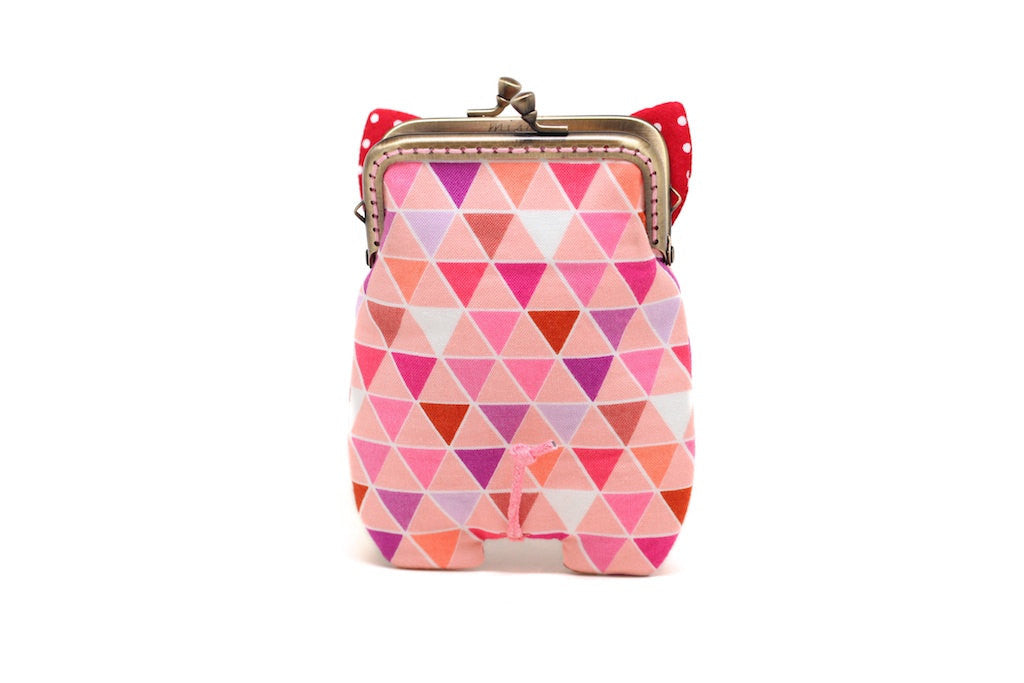 Candy polygons piggy card holder wallet