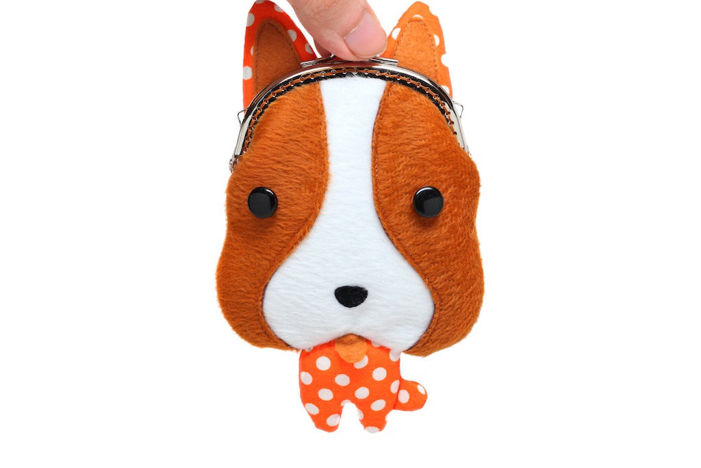 Little brown foxhound coin purse