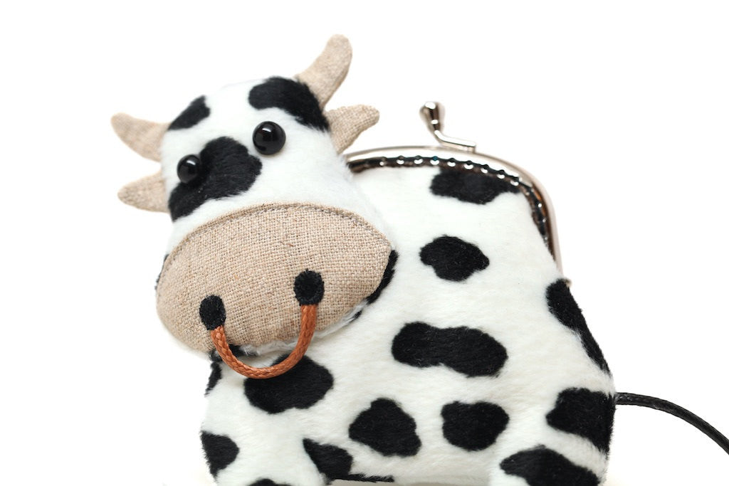 Little dairy cow clutch purse