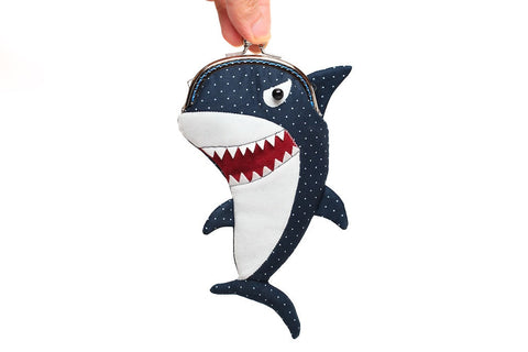 Great white shark clutch purse