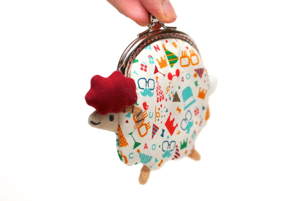 Party animal little lamb clutch purse