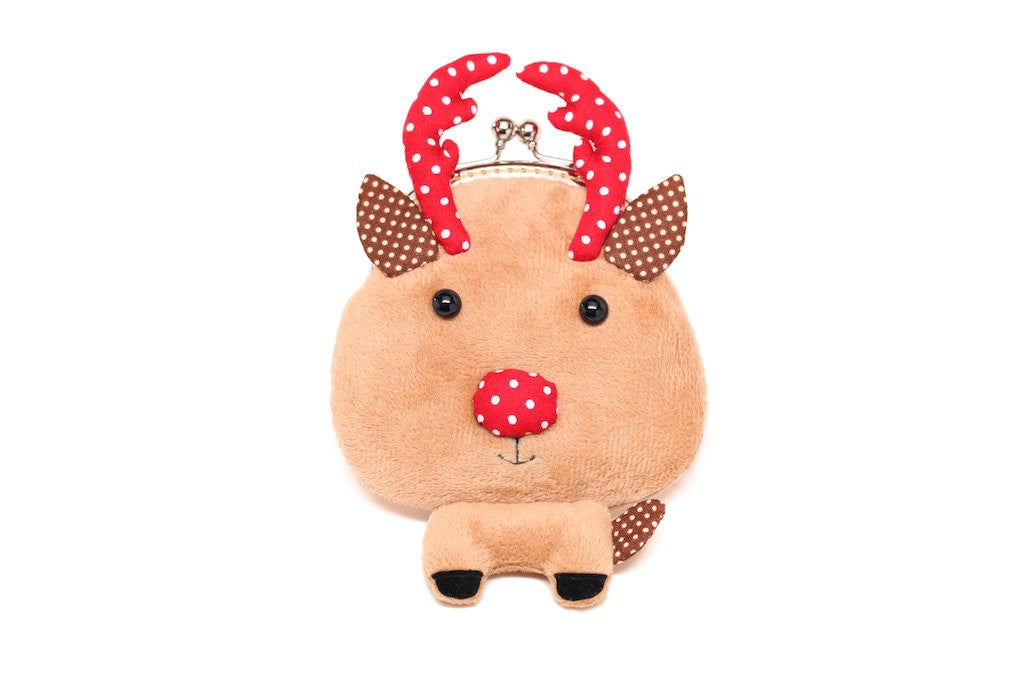 Santa's little helper reindeer coin purse