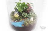 Terrarium - Totoro & Chibi by the river close up 1