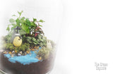 Terrarium - Totoro & Chibi by the river close up 2
