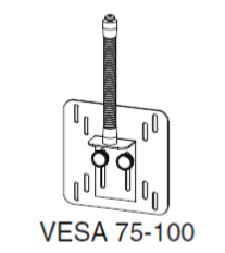I-S/VESA 75-100 Small VESA Mount for Brightline i-Series Personal Videoconference Light