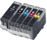 Compatible Canon PG-5 / CLi-8  Value Pack Ink Cartridges - Swan Cartridges