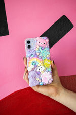 Load image into Gallery viewer, Pastel Unicorn Layered Phone Case