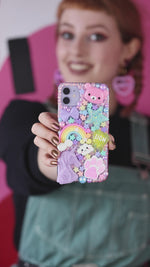 Load and play video in Gallery viewer, Pastel Unicorn Layered Phone Case