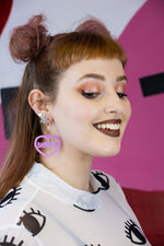 Load image into Gallery viewer, Babygirl Bubblegum Pink Acrylic Earrings