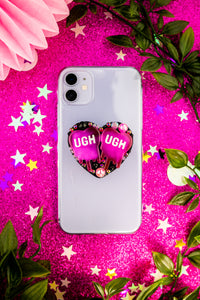 Pink UGH! Phone Case Grip
