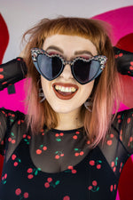 Load image into Gallery viewer, Heart Shaped Studded Sunglasses