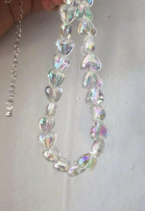 Y2k Iridescent Chain Necklace