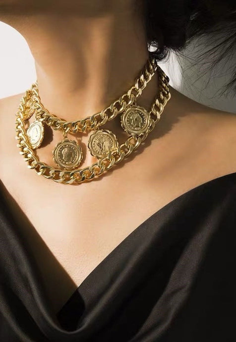 Y2k Coin Chain Necklace