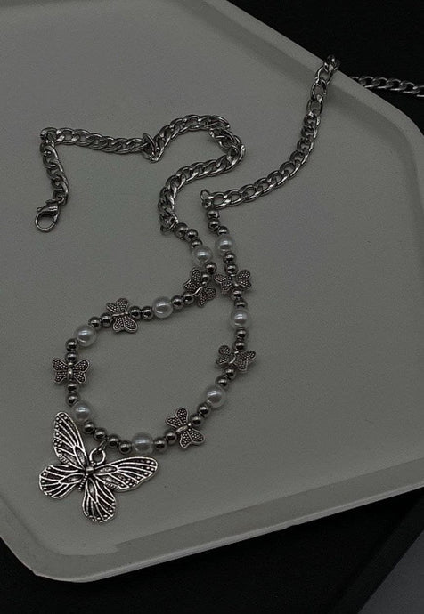Buttefly Tags Chain Necklace