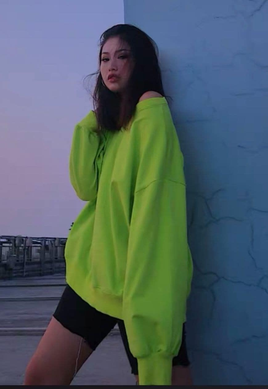 Neon Green Oversized Sweater