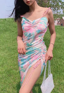 Tie Dye String Mini Dress