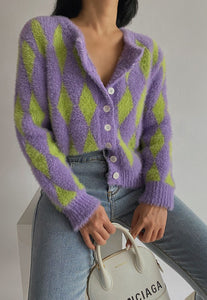 Chess Knitted Cardigan