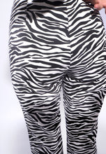 Load image into Gallery viewer, Zebra Print Straight Pants