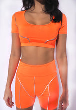 Load image into Gallery viewer, Neon Two Piece Set Reflective Active Wear
