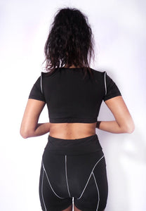 Neon Two Piece Set Reflective Active Wear