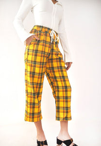 Vintage Mustard Plaid Pants