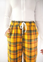 Load image into Gallery viewer, Vintage Mustard Plaid Pants