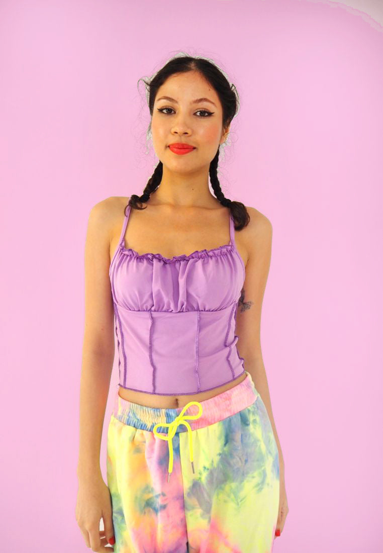 Purple Ruffles Tank Top
