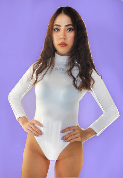 Y2 Reflective Turtleneck Bodysuit