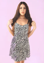 Load image into Gallery viewer, Zebra Pleated Mini Dress