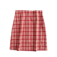 Load image into Gallery viewer, Red Plaid Tartan Mini Skirt