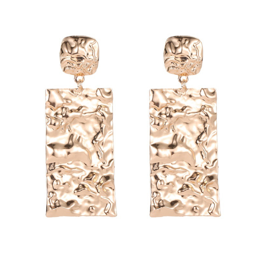 Y2K Aesthetic Earrings - Gold