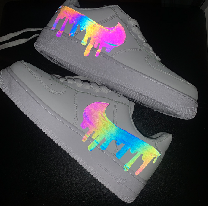 Holographic RFLCTVE Custom AF 1 Sneakers
