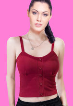 Load image into Gallery viewer, Burgundy Cami Top