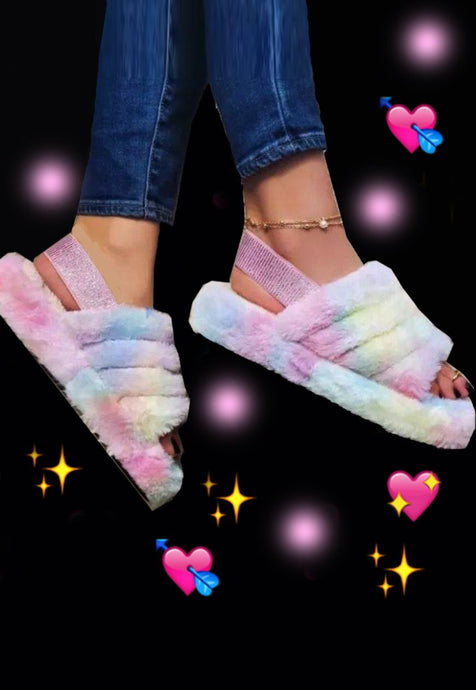 Pastel Fluffly Slippers