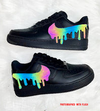 Load image into Gallery viewer, Noir Holographic RFLCTVE Custom AF 1 Sneakers