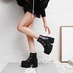 Cyber Punk Combat Boots - iCaseLeluxe